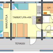 Floor plan Cabin A