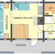 Floor plan Cabin A