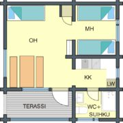 Floor plan Cabin B