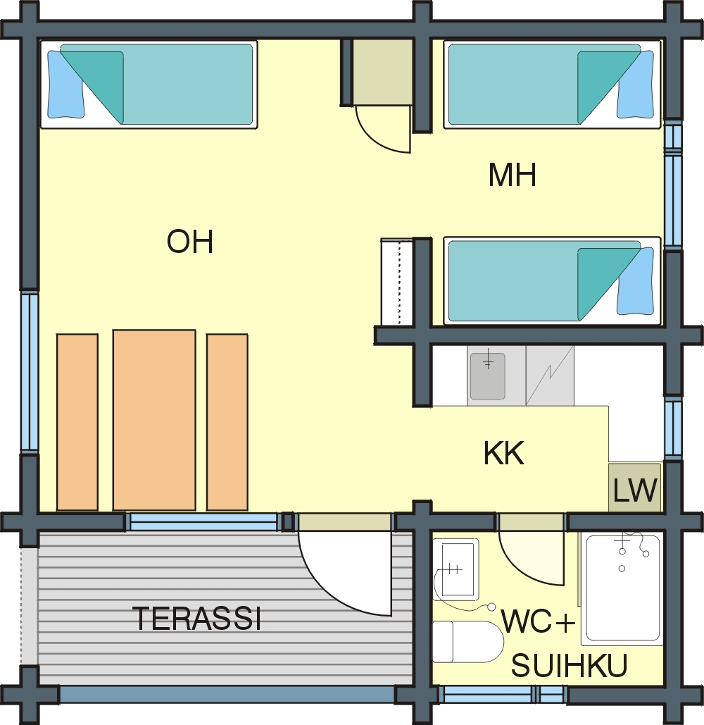 Floor plan Cabin B