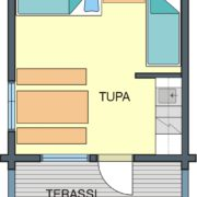 Floor plan Cabin C