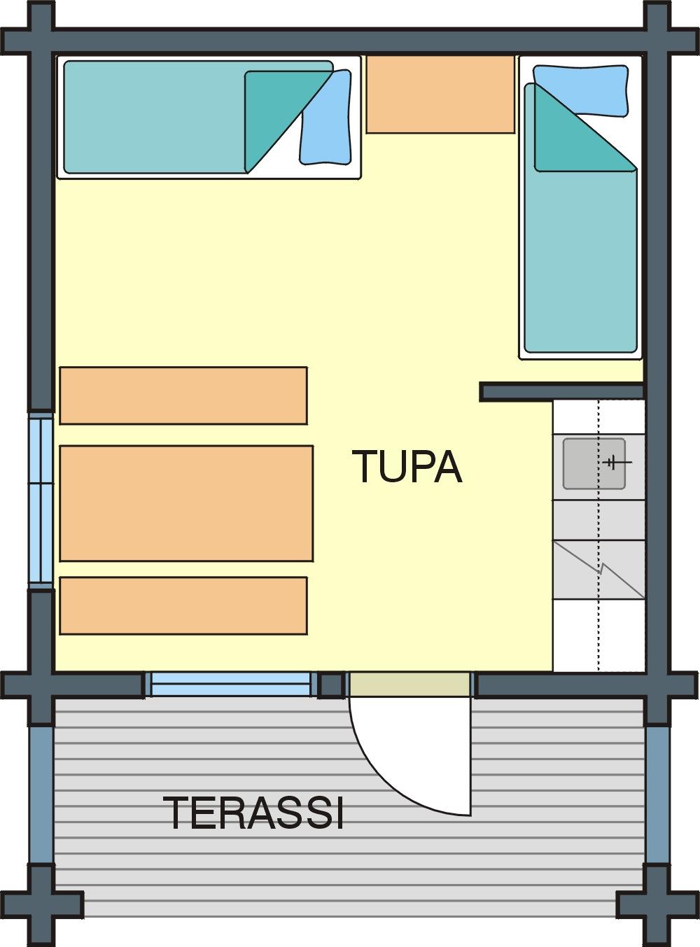Floor plan Cabin C